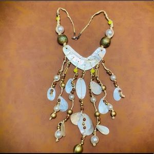 Exotic shell & bead necklace